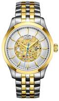 Rotary Two Tone 'skeleton' Watch Gb05033/06