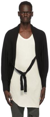 Julius Black Linen and Silk Cropped Cardigan