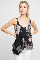 Free People On the Top Floral Printed Rayon Tank Top