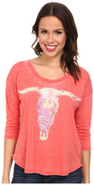 Rock and Roll Cowgirl Longhorn Boxy Tee