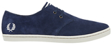 Fred Perry Byron Low Suede Trainers, Blue