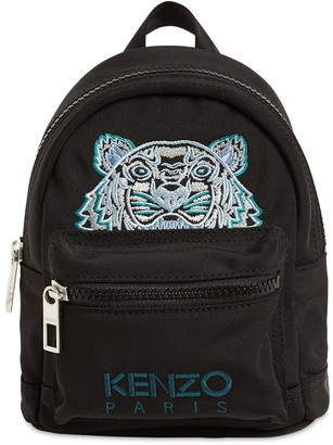 Kenzo Mini Tiger Embroidered Canvas Backpack