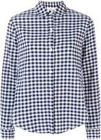 Clu frilled sleeve gingham shirt