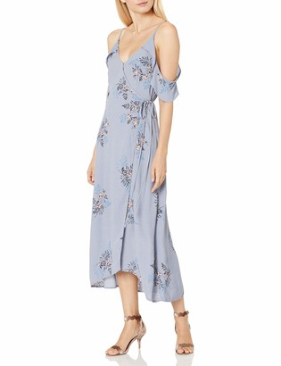 ASTR the Label Women's Gwyn Floral Print Cold Shoulder Midi Dress