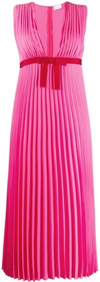 RED Valentino Pleated Georgette Dress