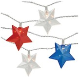 POPTIMISM! 10ct String Lights - Red, Clear and Blue Stars with White Wire - Poptimism
