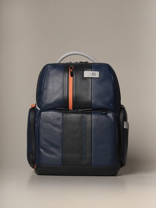 Piquadro Fast-check Backpack For Pc And Ipad With Anti-theft Device