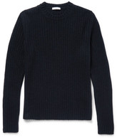 Boglioli Ribbed Wool And Cashmere-blend Sweater - Navy