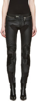 Alyx Black Leather Moto Trousers