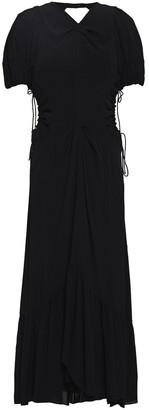 Proenza Schouler Ruched Cutout Crepe De Chine Midi Dress