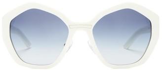 Prada Hexagon Acetate Sunglasses - White