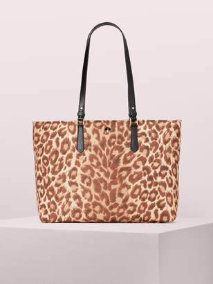 Kate Spade taylor leopard large tote
