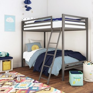 Mainstays Premium Metal Twin over Twin Bunk Bed, Multiple Colors