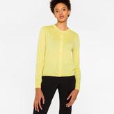 Paul Smith Women's Yellow Merino Wool Cardigan With Stripes