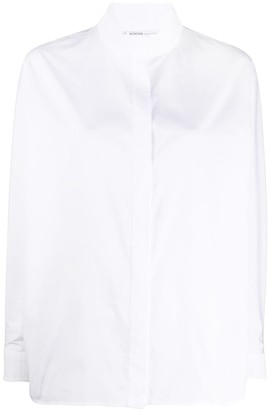 Agnona Stand-Collar Concealed-Placket Shirt