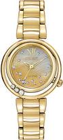 Citizen Eco-Drive Womens Diamond-Accent Gold-Tone Watch EM0322-53Y