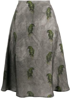 Lardini Parrot Print Skirt