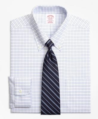 Brooks Brothers BrooksCool Madison Classic-Fit Dress Shirt, Non-Iron Triple Windowpane
