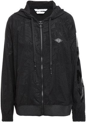 DKNY Appliqued Scuba Hooded Track Jacket