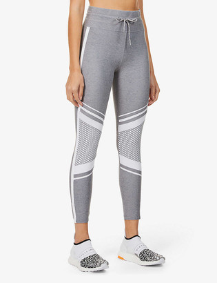 Lorna Jane Uplift mesh-panel high-rise stretch-jersey leggings