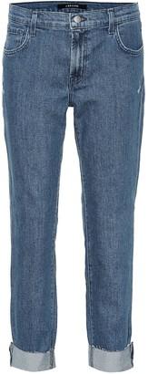 J Brand Johnny mid-rise boyfriend jeans