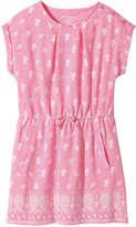 Joe Fresh Kid Girls' All Over Print Dress, Light Neon Pink (Size XL)