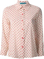 Alice+Olivia heart print shirt