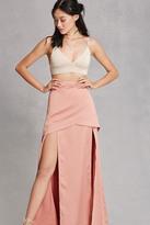 Forever 21 FOREVER 21+ Satin M-Slit Maxi Skirt