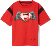 Red Batman vs. Superman Crewneck Tee - Boys