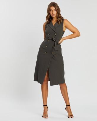 Atmos & Here Isabella Tuxedo Midi Dress