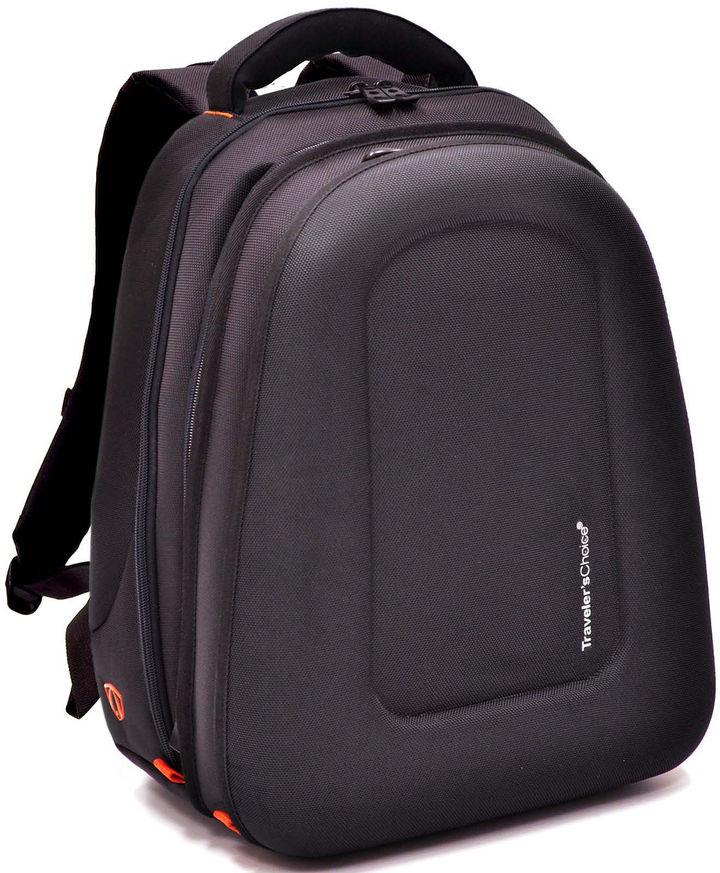 Traveler's Choice TRAVELERS CHOICE Compression-Molded EVA Expandable Laptop Backpack