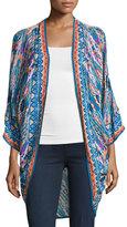 Tolani Shara Easy Printed Wrap Jacket, Plus Size