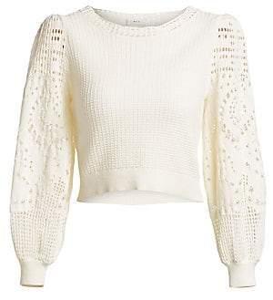 A.L.C. Women's Sandra Crochet Cotton Knit Top