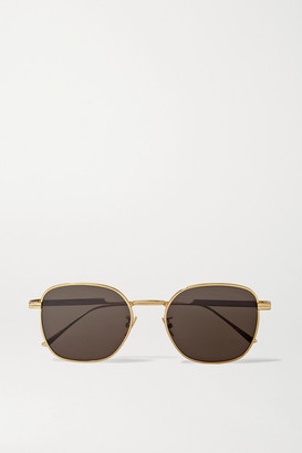 Bottega Veneta Light Ribbon Square-frame Gold-tone Sunglasses