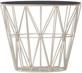 ferm LIVING Medium Wire Basket - Grey with Black Lid