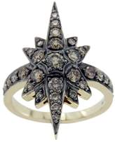 H.Stern 18K Yellow Gold & Champagne Diamonds Genesis Star Ring Size 6