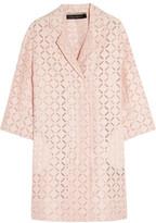 Roland Mouret Paddington Broderie Anglaise Cotton-Blend Coat