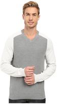 Perry Ellis Color Block V-Neck Sweater