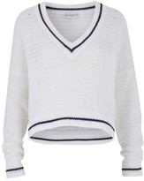 Amanda Wakeley Scale White Loose Knit Top