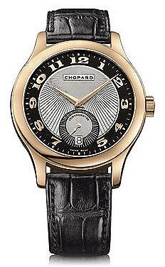 Chopard L.U.C. Classic Mark III Black and Silver Guilloche Dial Automatic Rose Gold Men's Watch