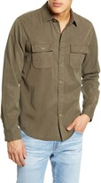 Frame Slim Fit Double Pocket Button-Up Shirt