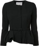 Carolina Herrera peplum jacket - women - Cotton/Virgin Wool - 2
