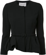Carolina Herrera peplum jacket - women - Cotton/Virgin Wool - 4