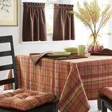 WholeHome 'Autumn Plaid' Set Of 2 Window Tiers-Plaid