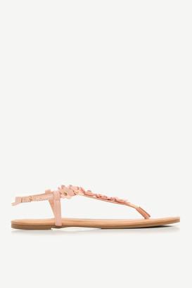 Ardene Floral Faux Leather Sandals