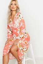 boohoo Plus Floral Midi Dress