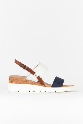 Wallis Navy Cork Wedge Sandal