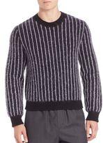 3.1 Phillip Lim Pinstripe Cropped Boxy Pullover