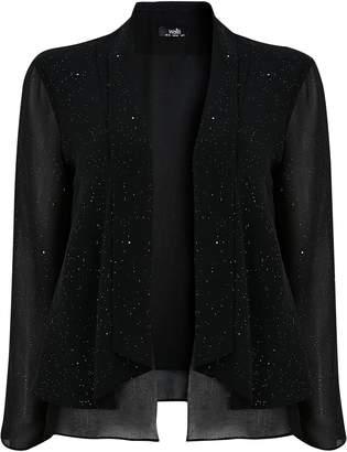 Wallis Black Sparkle Waterfall Jacket