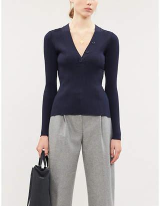 Samsoe & Samsoe Ivy V-neck ribbed wool-knit jumper
